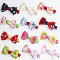 bamboo headband - 100pcs quot quot Baby ribbon hairbows with clips grosgrain hairclips Polar Zebra Girls hair accessorie
