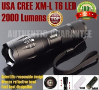 Wholesale 100 AUTHENT E17 CREE XM L T6 Lumens High Power CREE LED Torches Zoomable CREE LED Flashlights torch light for xAAA or x18650 battery