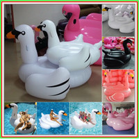 Wholesale DHL freeshipping PVC Vinyl cm inch Inflatable Ride On Pool Float Swan Inflatable Swim Ring Summer Sea or Swimming Pool