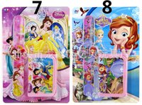 Wholesale Princess snap Watch Wallet set Princess Purse Princess snap Watch with Retail the blister packaging for Kids best gift H0406m