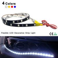 Wholesale 4Pcs cm High Power Waterproof Flexible LEDs Strip light V Bike Car DRL LED Daytime Running light Decoration Fog lamp