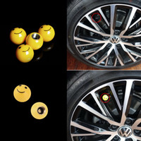 Wholesale 1 Car Truck Bike SMILE FACE BALL Smiley Tire Wheel Rims Air Valve Stem Caps