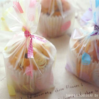 bakery packaging supplies wholesale - Plastic cupcake cookie bags for gift bakery packaging for wedding and festival party supplies cm