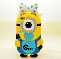 3d iphone 4 case - colorful Summer Minions Cut Despicable Me Silicone Case Cover Cartoon D Cases For iphone plus s g