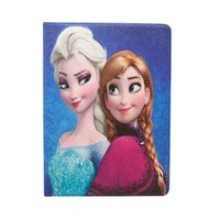 anna smart - Cartoon elsa anna Tablet PC Cases smart cover ipad air for mini