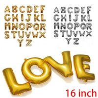 Wholesale Silver Gold Alphabet Letters Helium Balloons inch Foil Balloon Birthday New Year Party Wedding Decoration Ballons BL4032