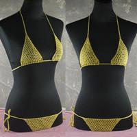 beach sex - Secret Sex Handmade crocheted mini bikini set Sexy Costumes Tops Bottom Honeymoon hippie beach swimming pools spas yacht bikini swimwear
