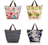 Wholesale hot Flower Oxford Picnic Thermal Bag Neoprene Lunch Bag Food Cooler Bags Thermal Women Handbag Women Messenger Bags