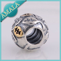 Wholesale Loose Beads Authentic Sterling Silver Beads Charm Women Jewelry DIY Fits Pandora Bracelet Necklace LW036