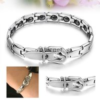 Wholesale ASLT Stainless Steel Bracelet GS977 Fashion Women Grains Magnetic Therapy New order lt no track