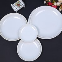 Wholesale Melamine Dishes Dinner Round Plates Kitchen Utensils Kitchen Accessories Restaurant Food Holder Buffet Smorgasbord Supplies