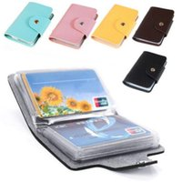 Card Holders credit cards - Hot Slim Sales Promotion Gifts Pu Leather Pocket Business ID Credit Card Wallet Holder for Cards