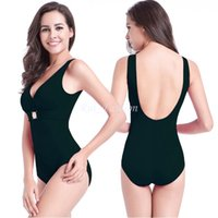 Além de roupas de banho de moda de tamanho Preços-Europeu moda Plus Size Swimsuit uma peça Deep V Backless Sexy Monokini mulheres banho Suit Beach Wear