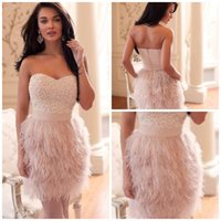 feather cocktail dress - 2014 Cocktail Dresses For Wedding Sheath Sweetheart Short Mini Beaded Sequins Pearls Feather Cocktail Party Dresses Short Homecoming Dresses