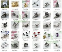 Wholesale Tibetan Silver Alloy Beads Charms Pendant Fit European Bracelets Making Mixed styly in Bulk