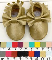 Girl baby shoes - Free Fedex EMS Ship New Tassels Bow Style Baby Moccasins Soft Moccs Baby Shoes Kids Genuine Cow Leather Newborn Baby Prewalker