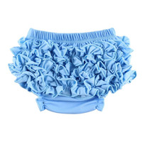 Wholesale EMS New Unisex Cotton Ruffles Baby Bloomers Baby short pants Baby Diaper Cover Ruffle Bloomers W0059