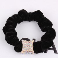 Cheap Xayakids Hairpin A party on behalf of the Korean pop ring type alloy diamond head ring fashion simple elastic hair headdress Baby Headband