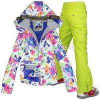 Wholesale new Combination ski suit Colorful ski jacketand pants for women windproof waterproof waterproof ski suit