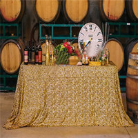 Wholesale DHL EMS Free x59 quot Gold Silver Sparkly Sequin Rectangle Table Cover Tablecloth For Wedding Party Event