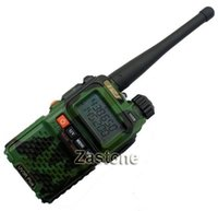 Wholesale Details about UV R PLUS BaoFeng VHF UHF Ham FM Two way Radio Camouflage Walkie Talkie