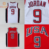 usa olympic basketball jersey - 1984 Olympic USA Michael Jordan White Red Basketball Jersey Olympic Jordan Jersey New Material Rev30 Size S XXL NA115