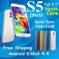 Wholesale Android Quad core MP Camera S5 PHONE I9600 smart phone Healthcare MTK6582 quot GB RAM GB ROM G LTE Airgesture cell phone