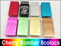 philippines - clone CHERRY BOMBER full mechanical mod by MCV PHILIPPINES dual battery clouds vapes black white DHL free