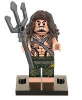 aquaman toy figure - DC Super Heroes Batman vs Superman Minifigures Building Blocks Aquaman Model Bricks Toys Figures with legos