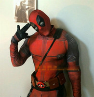 Wholesale 2016 New HOT The Avengers Deadpool Cosplay Costumes Zentai Catsuit Costumes Men Lycra Breathable Tights Fancy costumes
