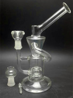 oils - 8 inch Glass Recycler Amazing vortex Recycler Glass concentrated oil rigs Glass oil dabbers Glass bongs with tyre perc mm joint size