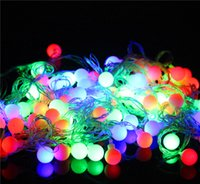 light bulb string lights - Christmas Lights Led Christmas Lights Light String Bulbs New m Matte Ball Warm White LED String Wedding Party Fairy Christmas