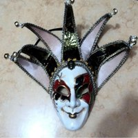 bell full face - Italy Manual Seven Horns Bell Mask Halloween Dance Party Mask Toys Role For Adult w Multicolor