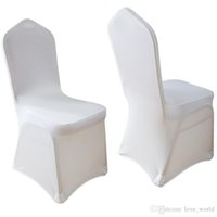 Wholesale Hot sale Ivory White Blue Spandex Stretch Chair Cover For Wedding Banquet Party Hotel Chair Cover Decorations