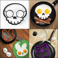 animals breakfast - 3 Patterns Silicone Fried Egg Mold Tool Skull Rabbit Owl Animal Pancake Cooking For Breakfast packed lunches Funny Shape