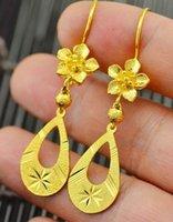 Wholesale wonderful yellow gold filled flower waterdrop women searings pfmcgy88