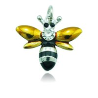 bee keychain - 2015 Latest Fashion Floating Charms Alloy Lobster Clasp Bee DIY Keychain Jewelry Accessories