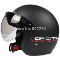 alien helmet - E Taiwan quot EVO quot Scooter Casque Racing Open Face Casco OFF Road Motorcycle quot Alien quot Matt Black Helmet
