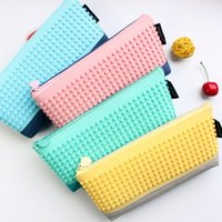 Wholesale Korea stationery creative happy blocks Pencil bag
