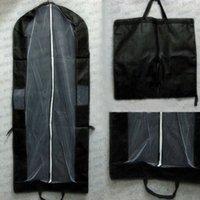 Wholesale Black Suit Suit Thick Dust Cover Dust Bag Lengthened Tuxedo Suit Women Short Dress Dustproof Bag Black F03