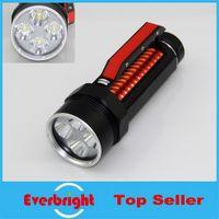 Wholesale 5 LusteFire DV400 Lantern x Cree XM L2 diving lamp Lumens Stepless Dimming Diving Flashlight Torch x flashlight