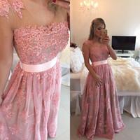 beautiful prom dresses for evening - Custom Made See Through Elegant V Neck Evening Dress Appliques Pearls Prom Dress Most Beautiful Formal Dresses For Women sh0026