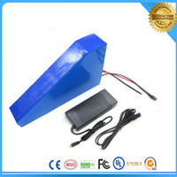 Wholesale Triangle style v AH w lithium Battery times cycle electric bike Lithium Li ion Battery V AH with BMS charger