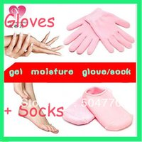 Wholesale Brand New Soft Spa Gel Gloves and Socks for bautiful hands and feet including pair gloves pair socks