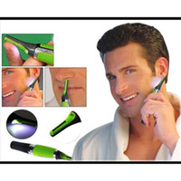 Wholesale ultifunction Personal Electric Nose Build In LED Light Hair Ear Eyebrow Sideburns Shaver Drop Shipping by DHL