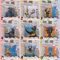 Wholesale 30pcs CCA3535 Hot CM Designs Zootopia Plush Toys Zootopia Pillows Nick Wilde And Judy Hopps Fox Rabbit Cushion Cartoon Throw Pillow
