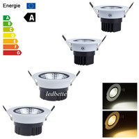 Wholesale New Dimmable Recessed led downlight cob W W dimming LED Spot light led ceiling lamp110V V home luminaire IP44