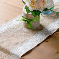Wholesale High Quality Lace Side Linen Table Runners Wedding Banquet Party Decoration Table Cloths quot X108 quot in Stock