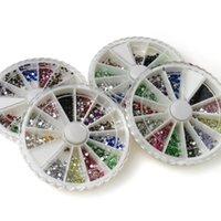 Wholesale 5000Pcs mm Assorted Colors Nail Art Soak Off Facets Resin Flat Rhinestones Decorations Manicure Kits