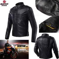 Wholesale 2016 New scoyco Motocross motorcycle jacket racing suits jersey drop resistance clothing waterproof men s motorbike leather jackets JK44